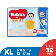 HUGGIES  Dry Pants (XL 12-17KG) (32 Pcs)