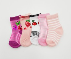 BAROTTI Girls Socks 5 Pcs Pack (RANDOM COLOUR) (0 to 6 Month)