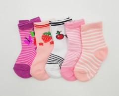 BAROTTI Girls Socks 5 Pcs Pack (AS PHOTO) (6 to 12 Months)