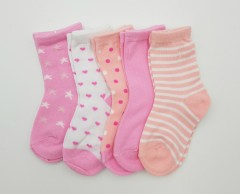 BAROTTI Girls Socks 5 Pcs Pack (AS PHOTO) (12 to 24 Months)