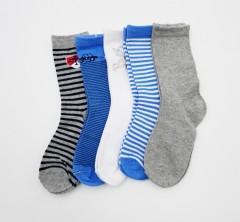 BAROTTI Boys Socks 5 Pcs Pack (RANDOM COLOUR) (5 to 7 Years)