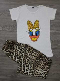 CARLA MARA Ladies Turkey 2 Pcs Pyjama Set (WHITE) (S - M - L - XL)