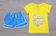 JOE BOXER Ladies 2 Pcs Shorty Set (YELLOW - BLUE) (XS - S - M - L - XL - XXL - 3XL)