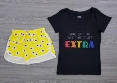 JOE BOXER Ladies 2 Pcs Shorty Set (BLACK - YELLOW) (XS - S - M - L - XL - XXL - 3XL)