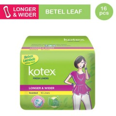 KOTEX Fresh Liner Longer & Wider daun sirih extract (16 PCS) (MOS)