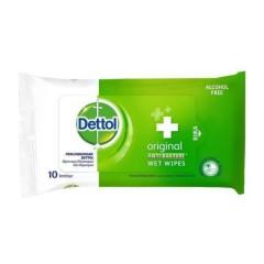 DETTOL  Wet Wipes Original Anti Bakteri 10W (09.06.2022) (MOS)