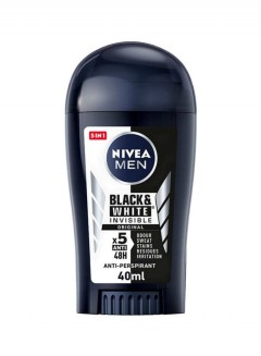 NIVEA Black And White Deodorant Stick For Men 40ml (Exp: 09.2022) (MOS)