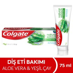 COLGATE Natural Extracts Gum Care with Aloe Vera And Green Tea 75ml (Exp: 04.2023) (MOS)