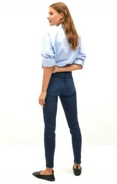 MANGO Ladies Jeans (NAVY) (32 to 44)