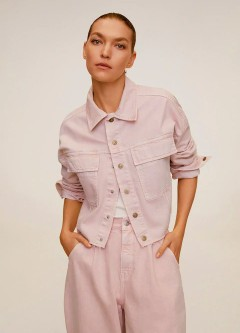 MANGO Ladies Jacket (LIGHT PINK) (XS - S - M - L)