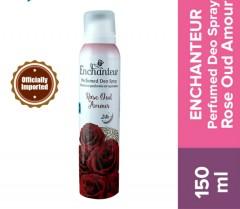 ENCHANTEUR  Perfumed Deo Spray  Rose Oud Amour 150ml (Exp: 07.22) (MOS)