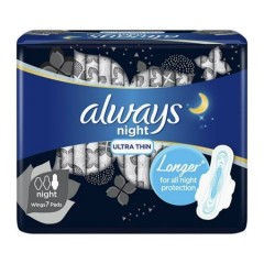 ALWAYS Ultra Thin Night Sanitary Pads with Wings 7 Pads (Exp: 02.03.2022) (MOS)