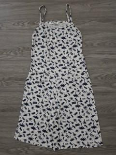 BLUSH Ladies Jumpsuit (WHITE - BLACK) (S - M - L)