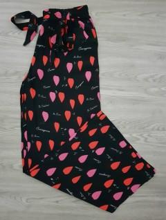 HANIMCA Ladies Turkey Pants (BLACK - RED) (S - M - L - XL)