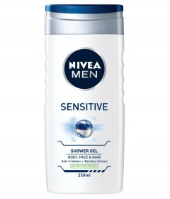 NIVEA MEN Sensitive Shower Gel Bamboo 250ml (MOS)