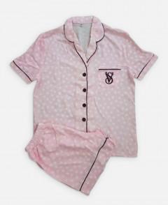 VICTORIA SECRET Ladies Turkey Sleepwear 2 Pcs Set (PINK) (S - M - L - XL)