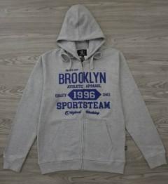 A.CASUALS Mens Turkey Sweatshirt Printed Hoodie (GRAY) (S - M - L - XL)