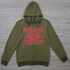 A.CASUALS Mens Turkey Sweatshirt Printed Hoodie (GREEN) (S - M - L - XL)