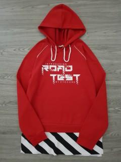 BLN WITH LOVE  Ladies Turkey Sweat Shirt Printed Hoodie (RED) (S - M - L - XL)