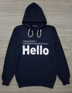 HAZARD Ladies Turkey Sweatshirt Printed Hoodie (NAVY) (S - M - L - XL)