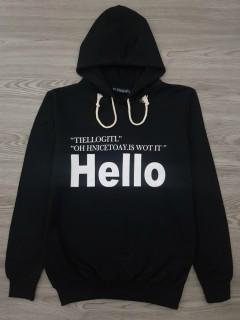 HAZARD Ladies Sweat Shirt Printed Hoodie (BLACK) (S - M - L - XL)