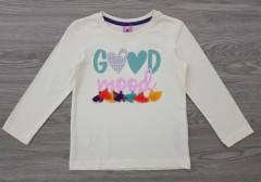 KIKI KOKO Girls Long Sleeveless Shirt (CREAM) (74 CM)