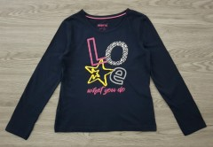 PEPPERTS Girls Long Sleeved Shirt (NAVY) (6 to 14 years)