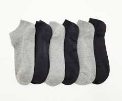 FITTER FIT FOR ME Ladies Socks 6 Pcs Pack (BLACK - GRAY) (FREE SIZE)