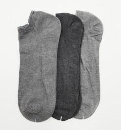 PROACTME BAMBO Mens Socks 3 Pcs Pack (GRAY) (FREE SIZE)