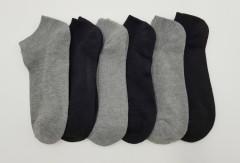FITTER FIT FOR ME Mens Socks 6 Pcs Pack (GRAY - BLACK) (FREE SIZE)