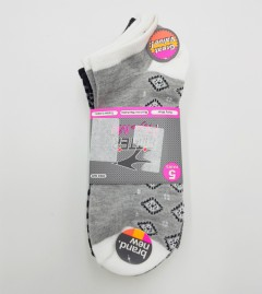 FITTER FIT FOR ME Ladies Socks 5 Pcs Pack (WHITE - BLACK - GRAY) (FREE SIZE)
