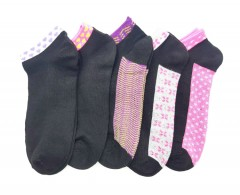 FITTER FIT FOR ME Ladies Socks 5 Pcs Pack (BLACK) (FREE SIZE)