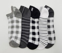 FITTER FIT FOR ME Ladies Socks 5 Pcs Pack (GRAY - BLACK) (FREE SIZE)