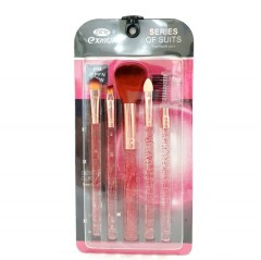 EXMON Make Up Brush Set (Pack of 5) (PINK) (FRH)