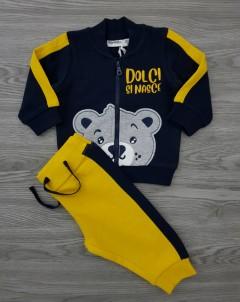 MIGNOLO Boys 2 Pcs  Pyjama Set (YELL0W - NAVY) (3 to 30 Month)