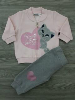 MIGNOLO Girls 2 Pcs  Pyjama Set (PINK - GRAY) (3 to 30 Months)