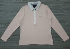 U.S POLO ASSN Ladies Long Sleeved Polo Shirt (PINK) (S - M -  L - X )