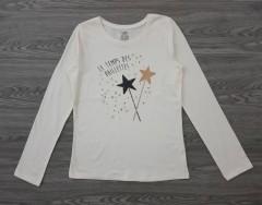 GEORGE Girls Long Sleeved Shirt (WHITE) (6 to 12  years)