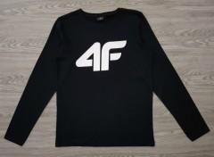4F Boys Long Sleeved Shirt (BLACK) (128 to 164 CM)