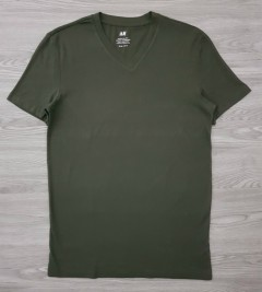 H AND M Mens T-Shirt (DAR GREEN) (XS - S - M - L - XL - XXL)