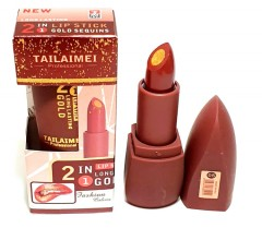 TAILAIMEI PROFESSIONAL 2 In 1 Lipstick Long Lasting Gold Sequins (NO.05) (Exp: 11.2023) (FRH)