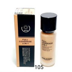TAILAIMEI PROFESSIONAL Full Coverage 2 In 1 Foundation And Concealer 40ml (No.105) (Exp: 12.2023) (FRH)