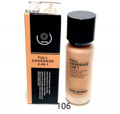 TAILAIMEI PROFESSIONAL Full Coverage 2 In 1 Foundation And Concealer 40ml (No.106) (Exp: 12.2023) (FRH)