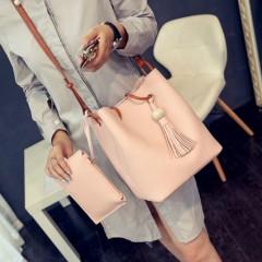Ladies 2 Pcs Hand Bags Set (PINK) (Os)