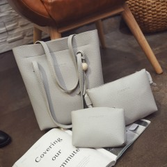 Ladies 3 Pcs Bags (GRAY) (OS)