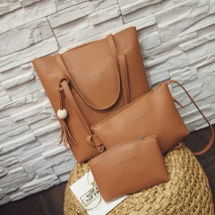Ladies 3 Pcs Bags (BROWN) (OS)