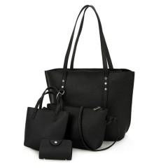 Ladies 4 Pcs Bags (BLACK) (Os)