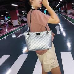 Ladies 2 Pcs Bags (SILVER) (Os)