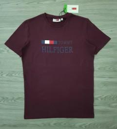 TOMMY HILFIGER Mens T-Shirt (MAROON) (S - M - L - XL)