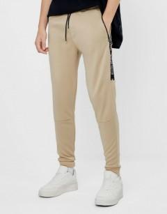 BERSHKA Mens Pants (CREAM) (XS - S - M - L - XL)